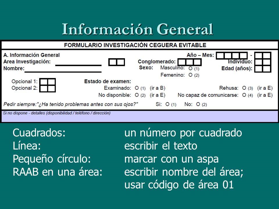 Información General Cuadrados: un número por cuadrado