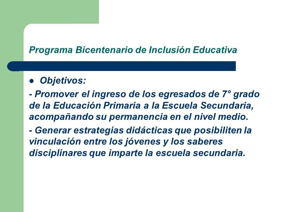 Programa Bicentenario de Inclusión Educativa