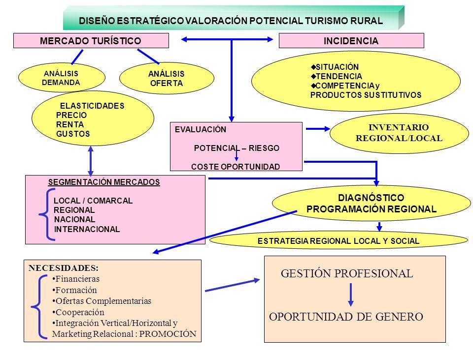 GESTIÓN PROFESIONAL OPORTUNIDAD DE GENERO MERCADO TURÍSTICO INCIDENCIA