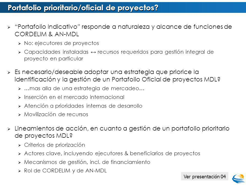 Portafolio prioritario/oficial de proyectos