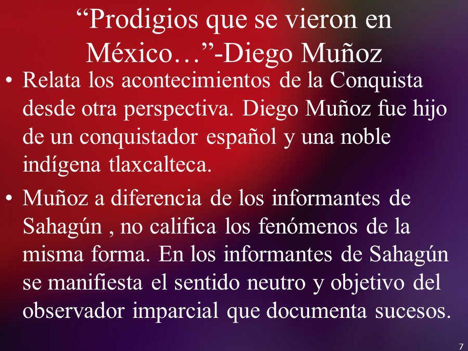 Prodigios que se vieron en México… -Diego Muñoz