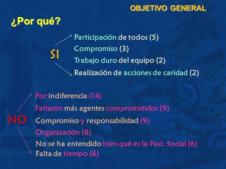SI NO ¿Por qué OBJETIVO GENERAL Participación de todos (5)