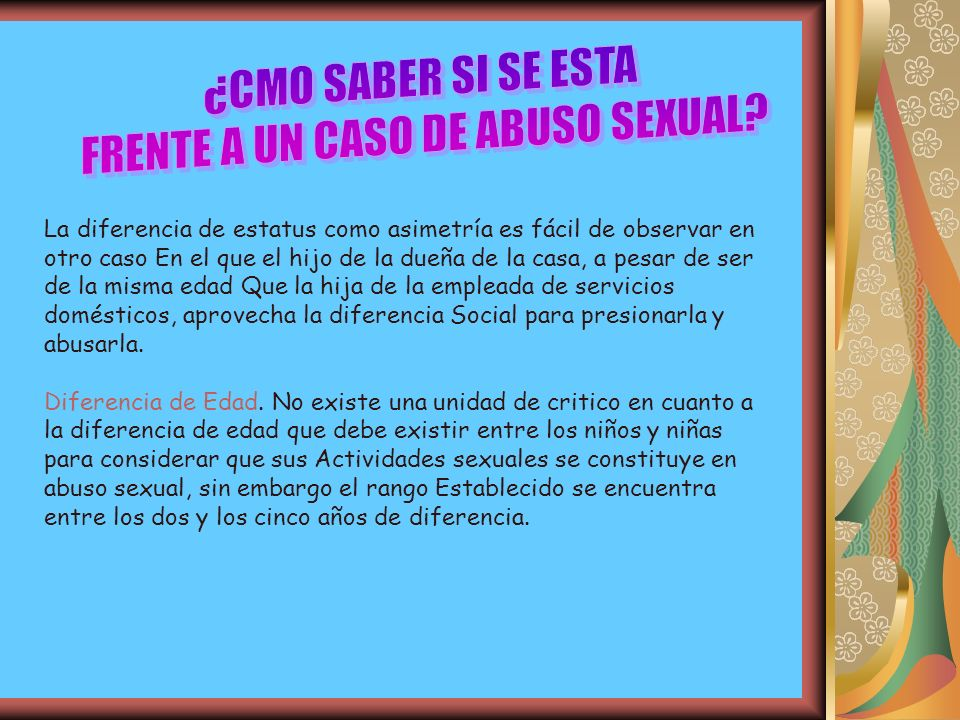 FRENTE A UN CASO DE ABUSO SEXUAL