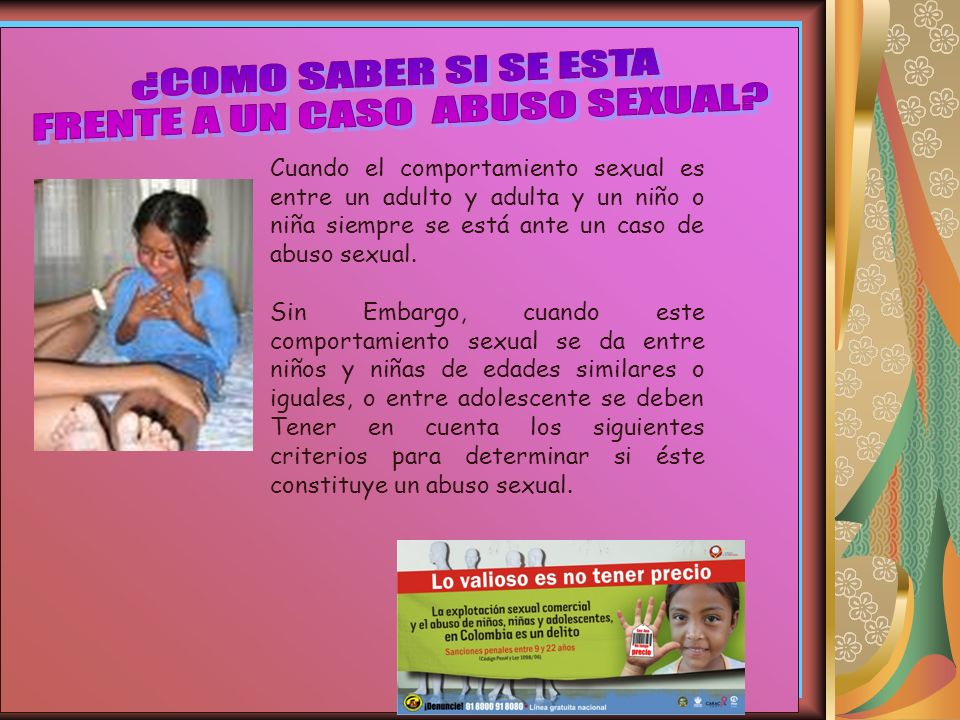 FRENTE A UN CASO ABUSO SEXUAL