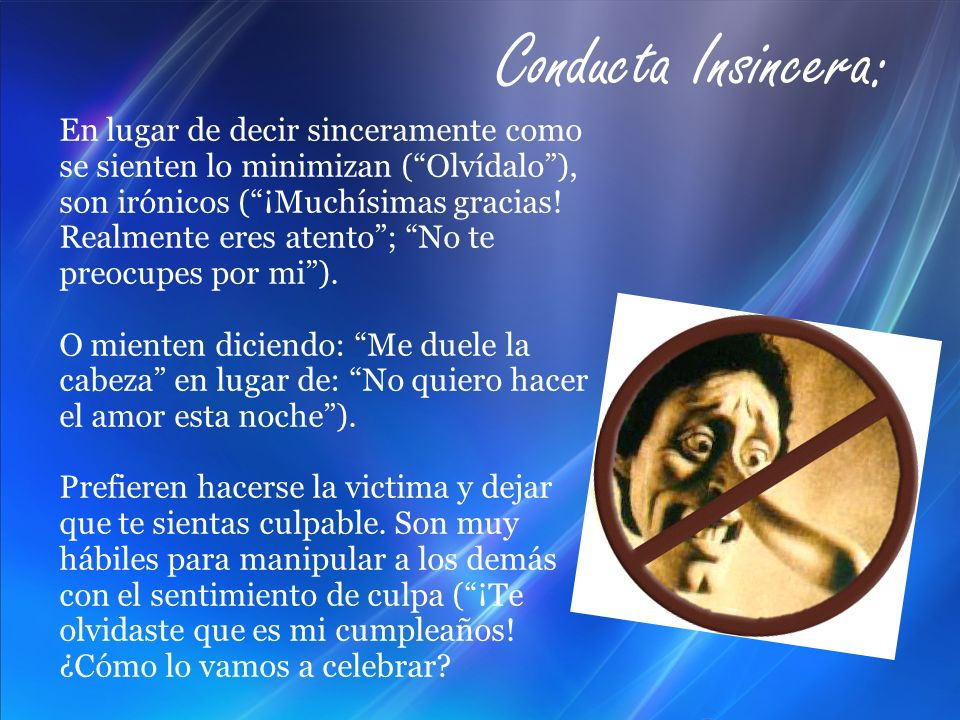 Conducta Insincera: