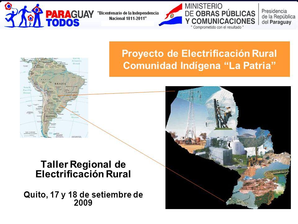Proyecto de Electrificación Rural Comunidad Indígena La Patria