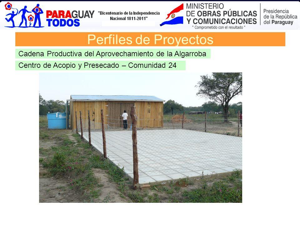 Perfiles de ProyectosCadena Productiva del Aprovechamiento de la Algarroba.