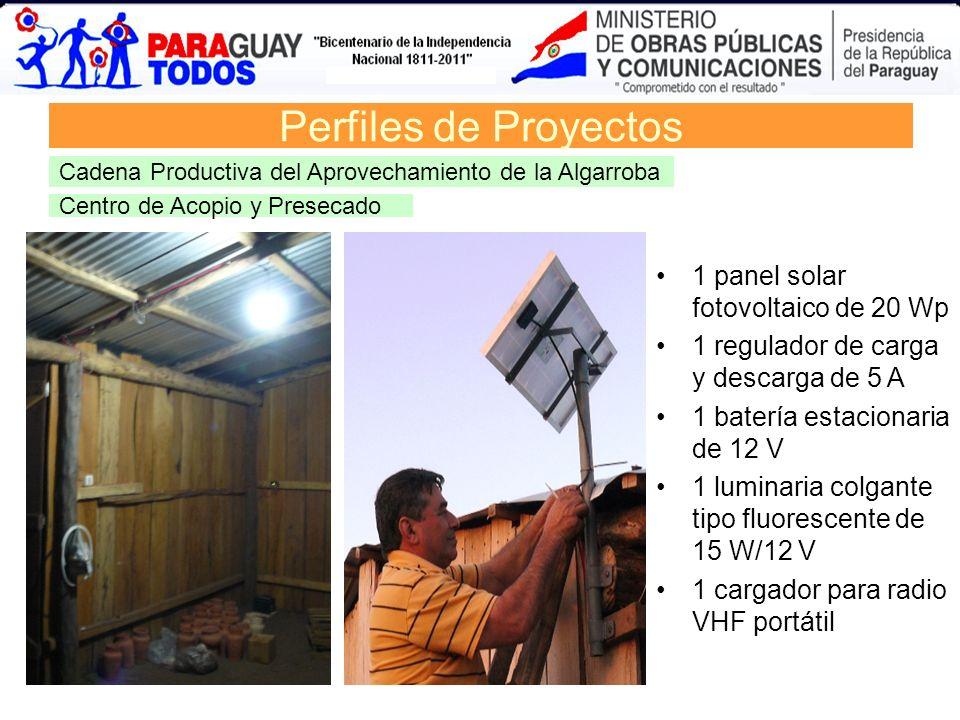 Perfiles de Proyectos 1 panel solar fotovoltaico de 20 Wp