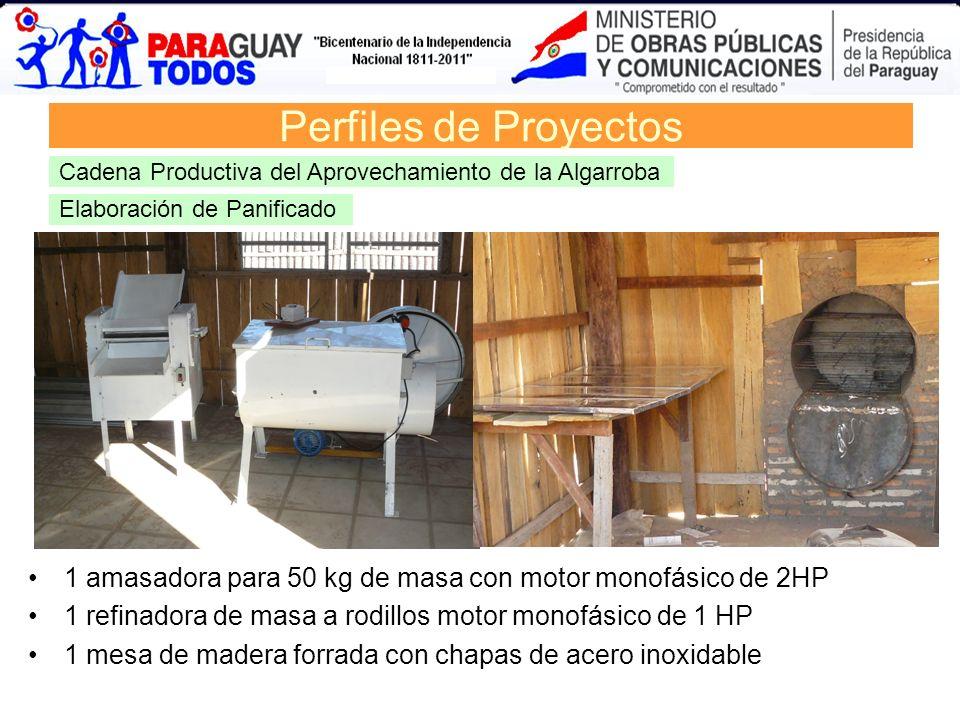 Perfiles de Proyectos Cadena Productiva del Aprovechamiento de la Algarroba. Elaboración de Panificado.