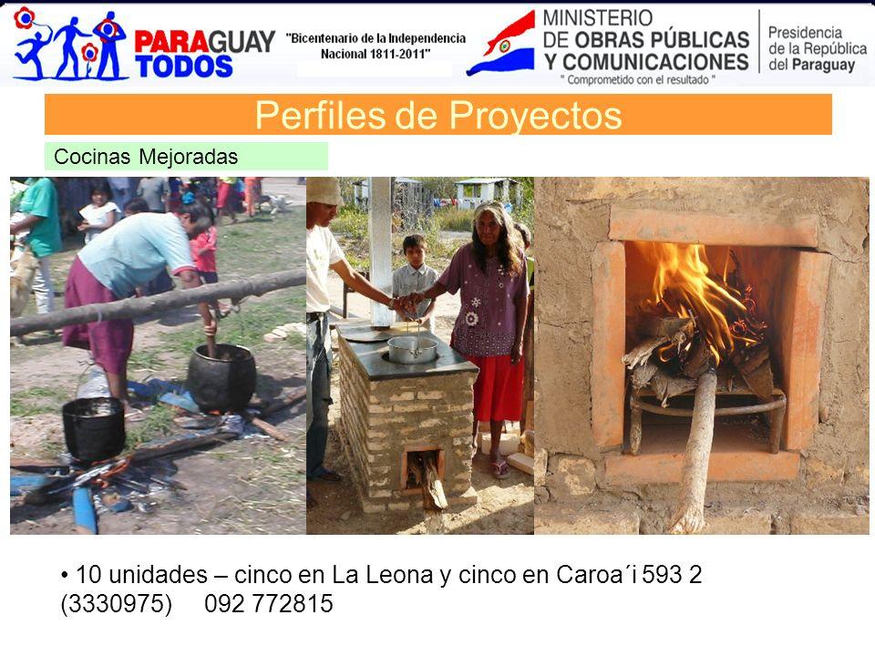 Perfiles de Proyectos Cocinas Mejoradas.