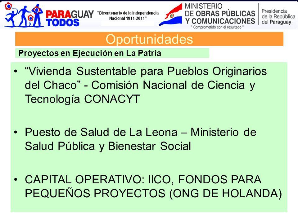 Oportunidades Proyectos en Ejecución en La Patria.