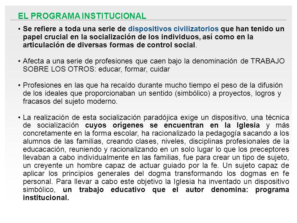 EL PROGRAMA INSTITUCIONAL