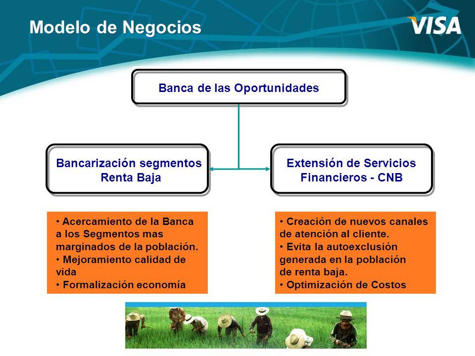Bancarización segmentos Extensión de Servicios