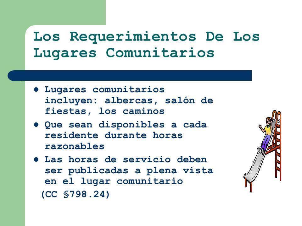 Los Requerimientos De Los Lugares Comunitarios