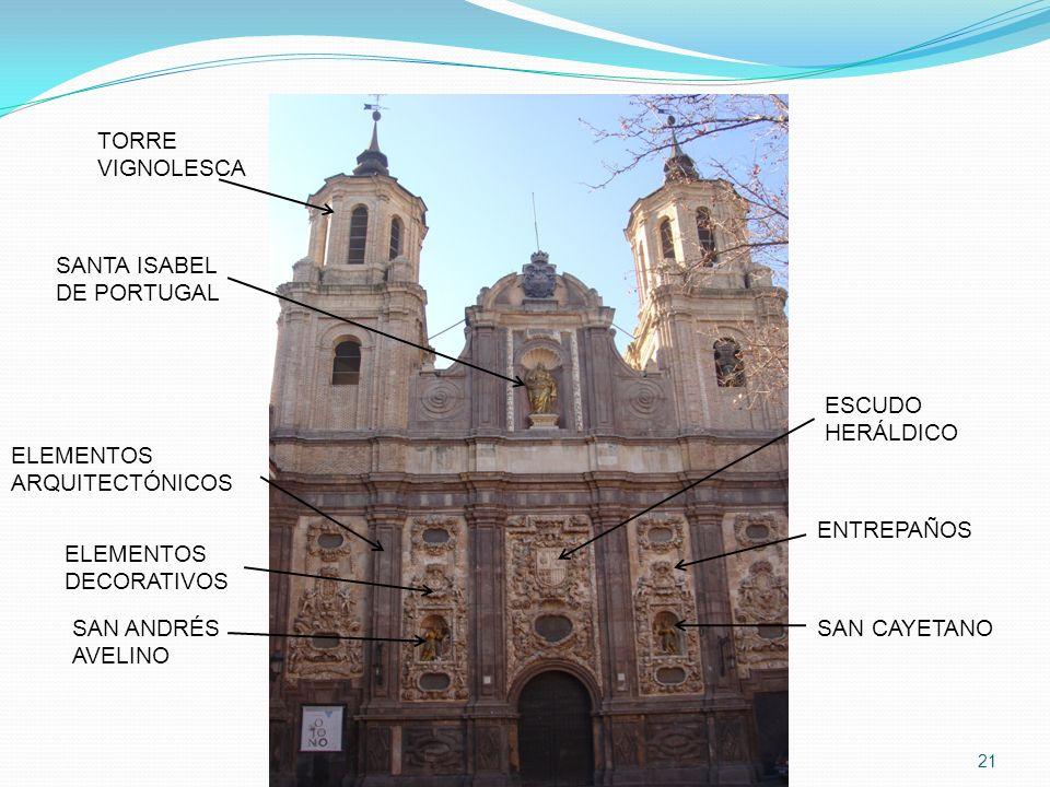TORREVIGNOLESCA. SANTA ISABEL. DE PORTUGAL. ESCUDO. HERÁLDICO. ELEMENTOS. ARQUITECTÓNICOS. ENTREPAÑOS.