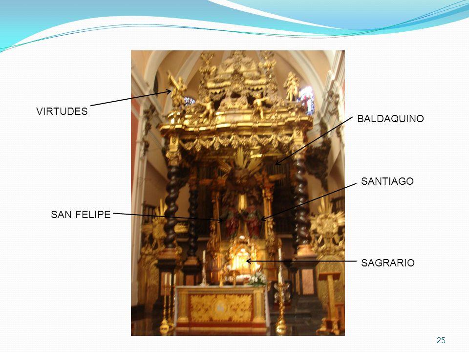 VIRTUDES BALDAQUINO SANTIAGO SAN FELIPE SAGRARIO