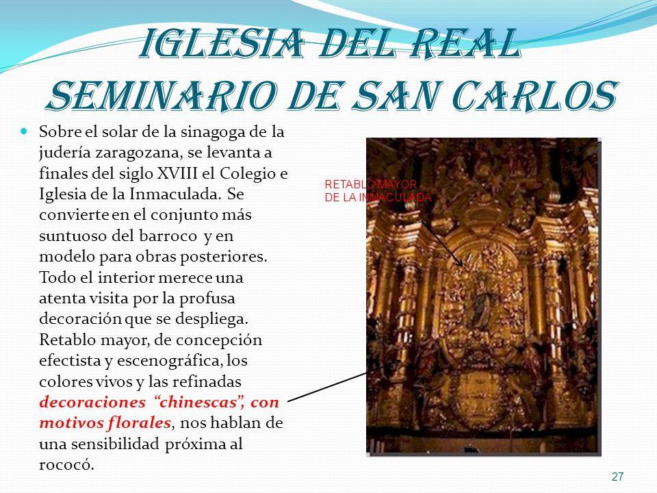 IGLESIA DEL REAL SEMINARIO DE SAN CARLOS