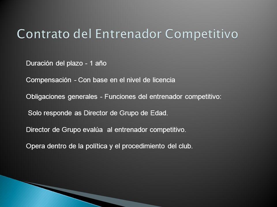 Contrato del Entrenador Competitivo
