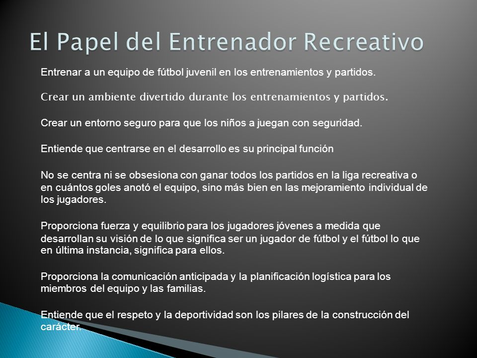 El Papel del Entrenador Recreativo