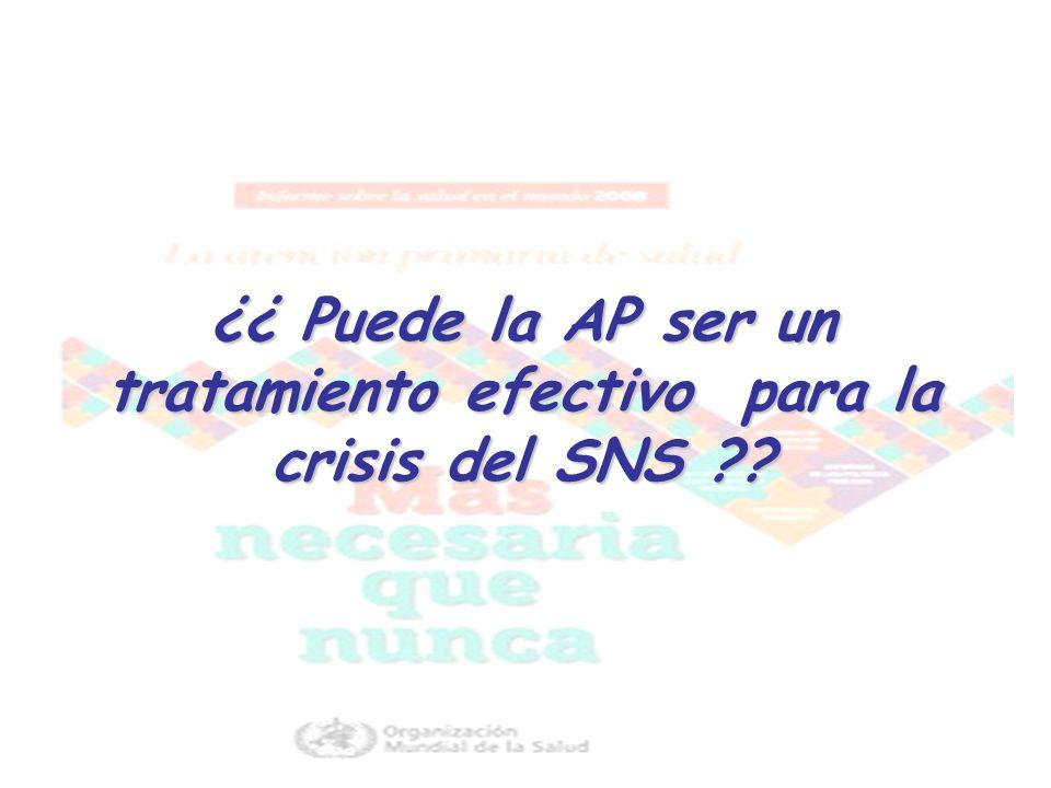 ¿¿ Puede la AP ser un tratamiento efectivo para la crisis del SNS