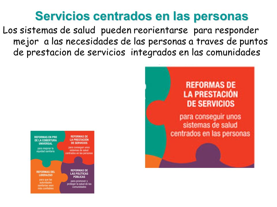 Servicios centrados en las personas