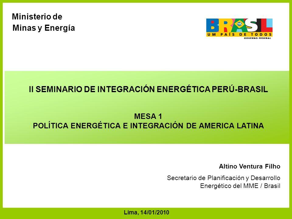 II SEMINARIO DE INTEGRACIÓN ENERGÉTICA PERÚ-BRASIL