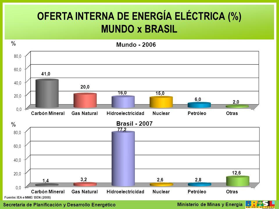 OFERTA INTERNA DE ENERGÍA ELÉCTRICA (%)