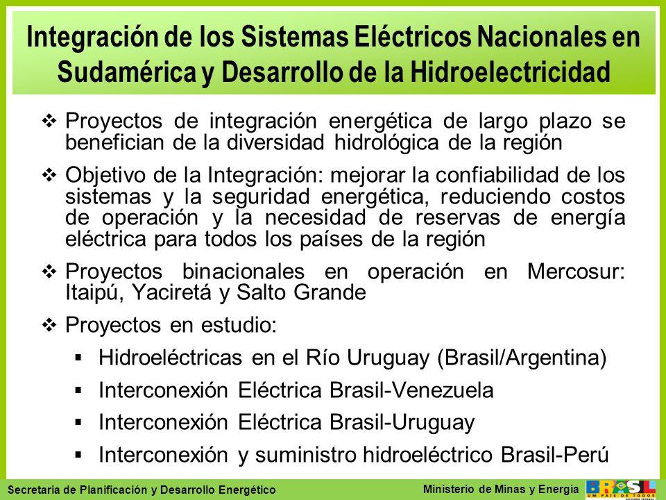 Integración de los Sistemas Eléctricos Nacionales en Sudamérica y Desarrollo de la Hidroelectricidad