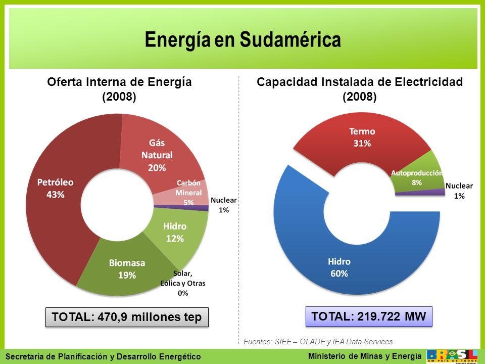 Oferta Interna de Energía Capacidad Instalada de Electricidad