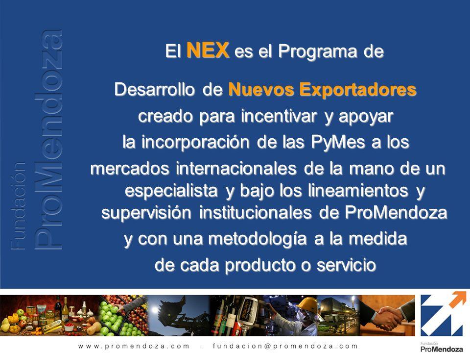 Desarrollo de Nuevos Exportadores creado para incentivar y apoyar
