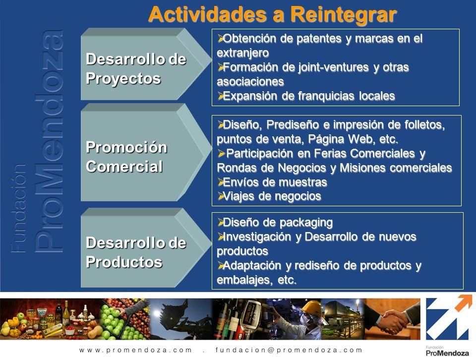 Actividades a Reintegrar