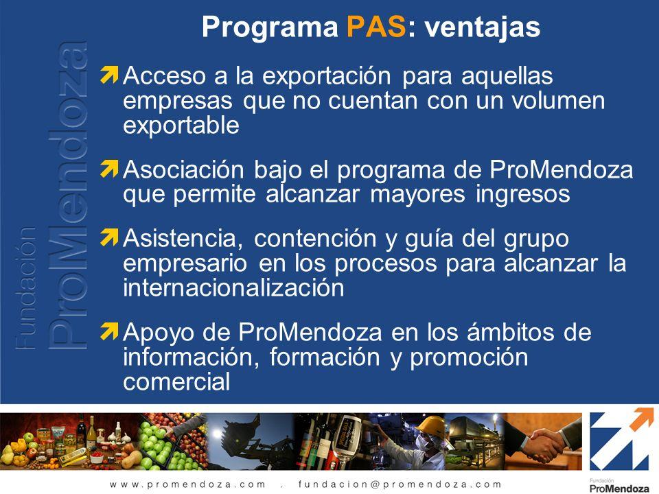 Programa PAS: ventajas