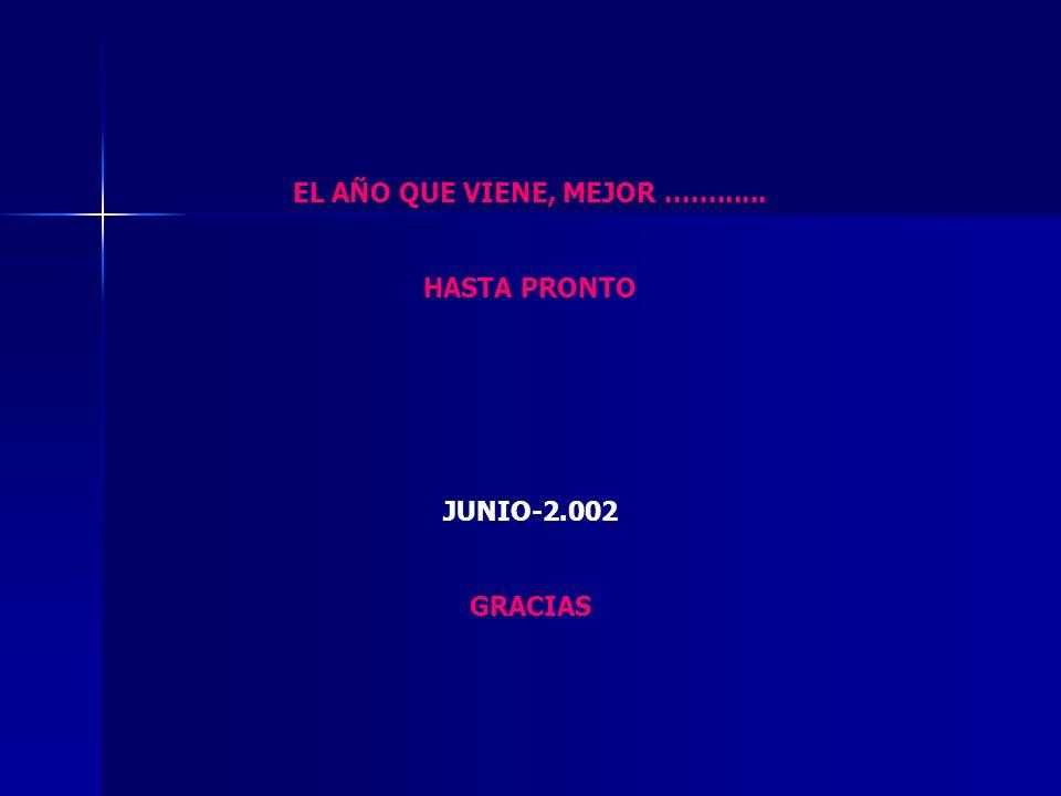 EL AÑO QUE VIENE, MEJOR ............ HASTA PRONTO JUNIO-2.002 GRACIAS