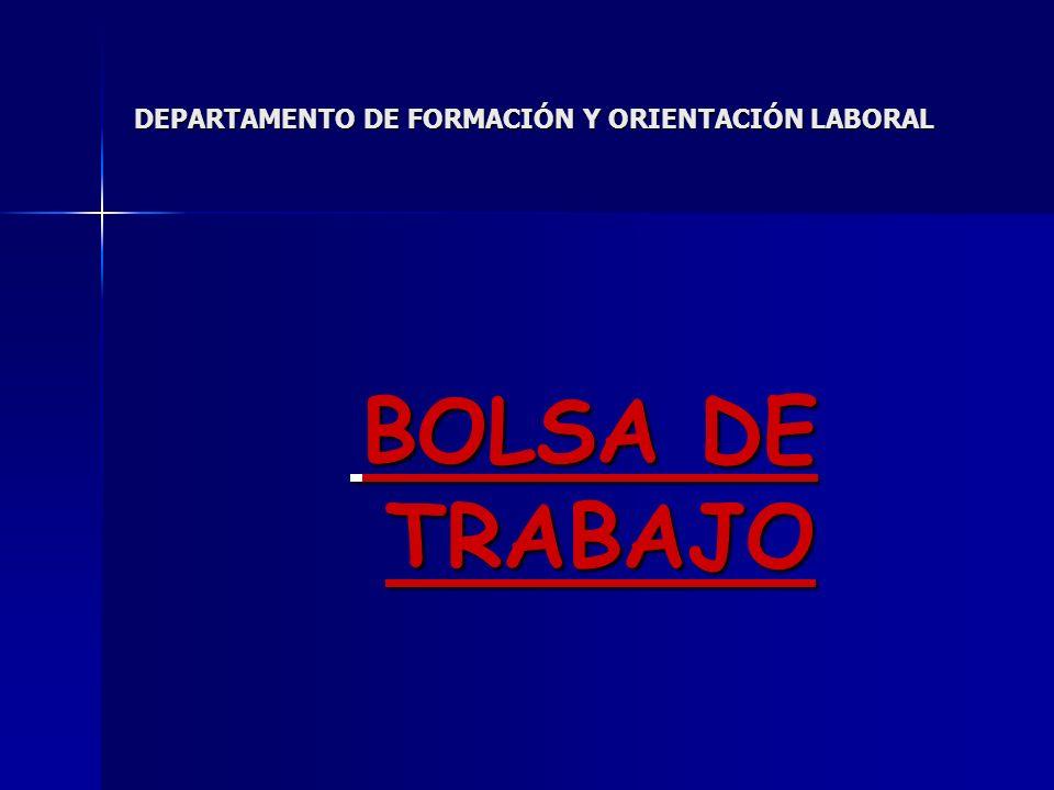 DEPARTAMENTO DE FORMACIÓN Y ORIENTACIÓN LABORAL