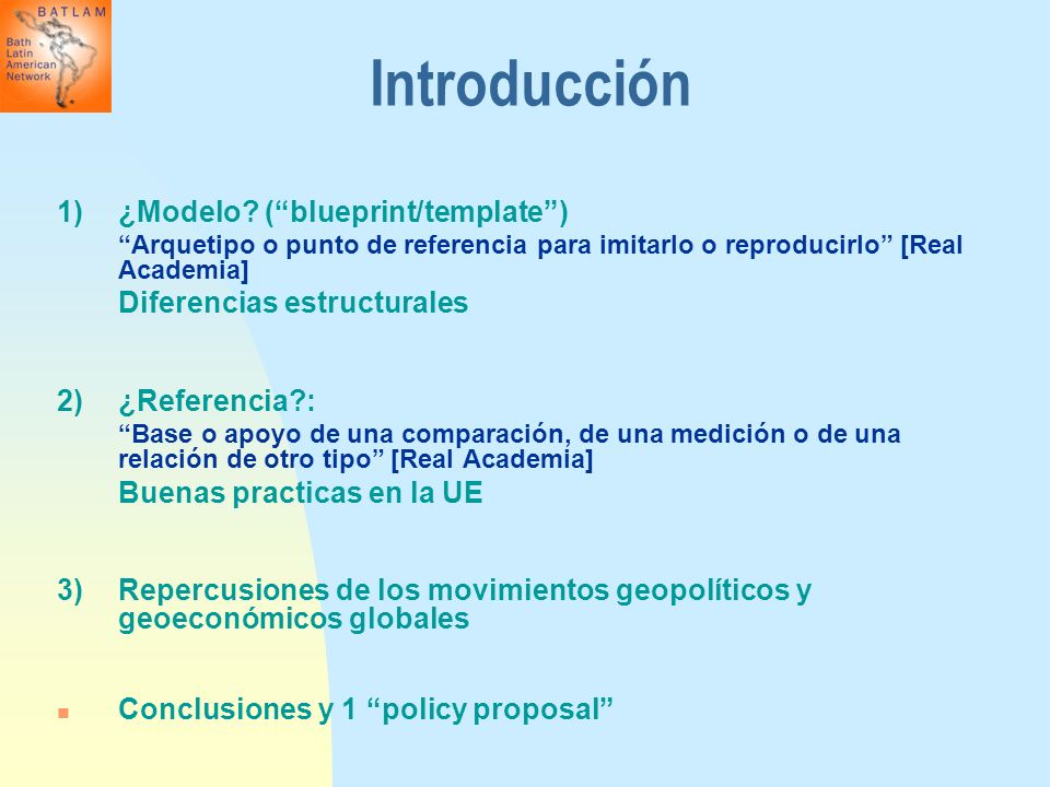Introducción 1) ¿Modelo ( blueprint/template )