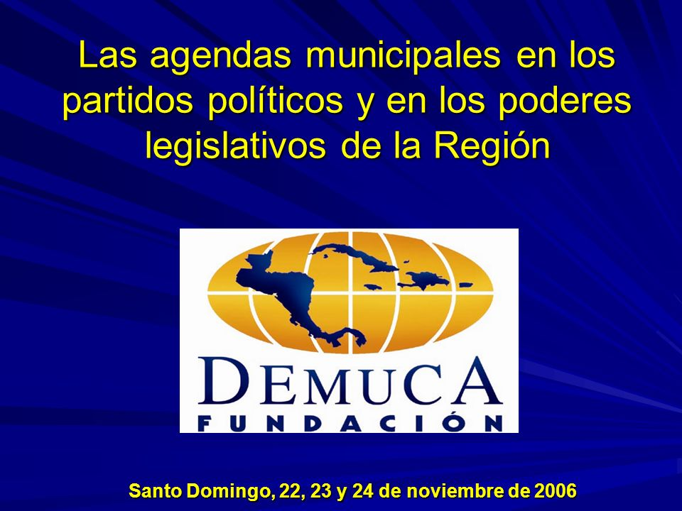 Santo Domingo, 22, 23 y 24 de noviembre de 2006
