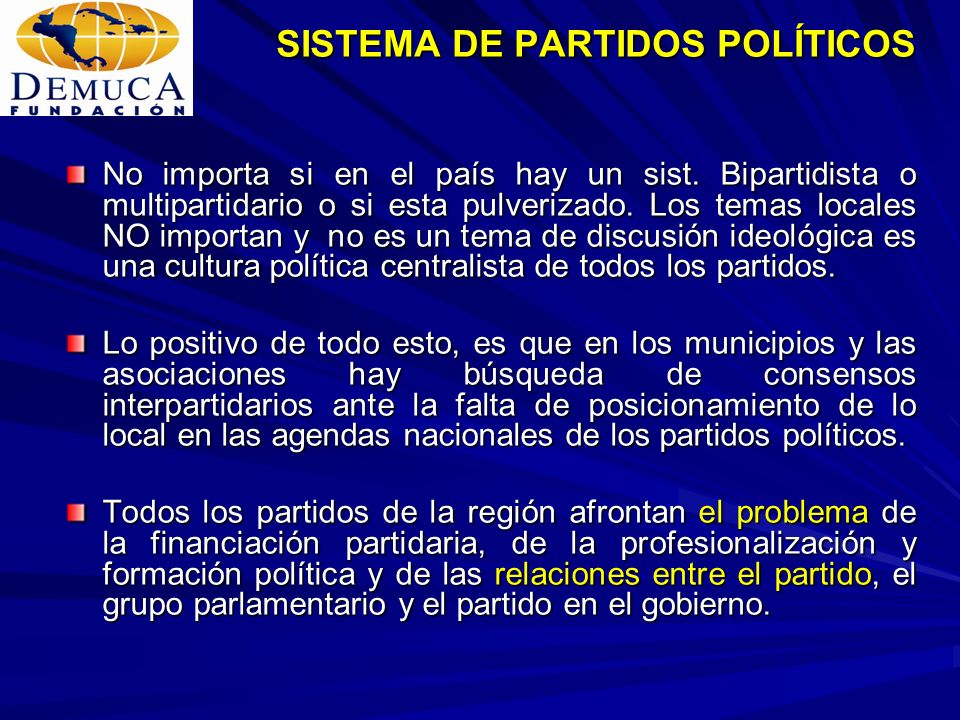SISTEMA DE PARTIDOS POLÍTICOS