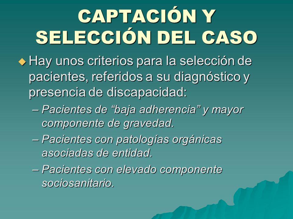 CAPTACIÓN Y SELECCIÓN DEL CASO