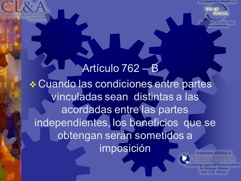 Artículo 762 – B