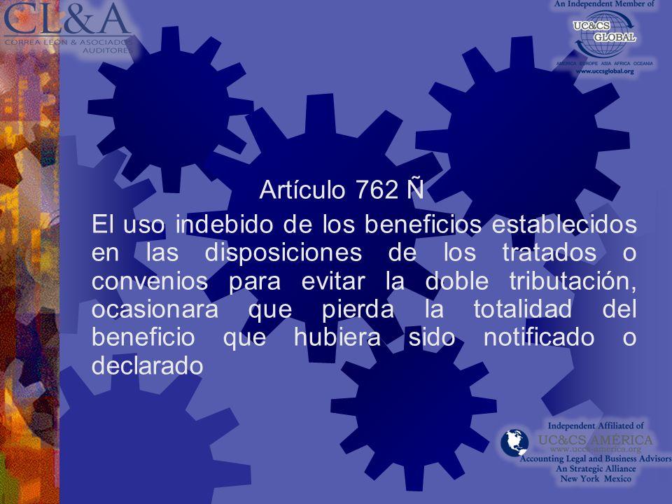 Artículo 762 Ñ