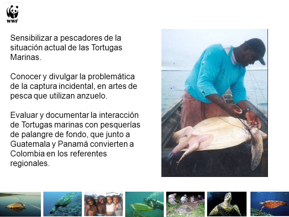 Sensibilizar a pescadores de la