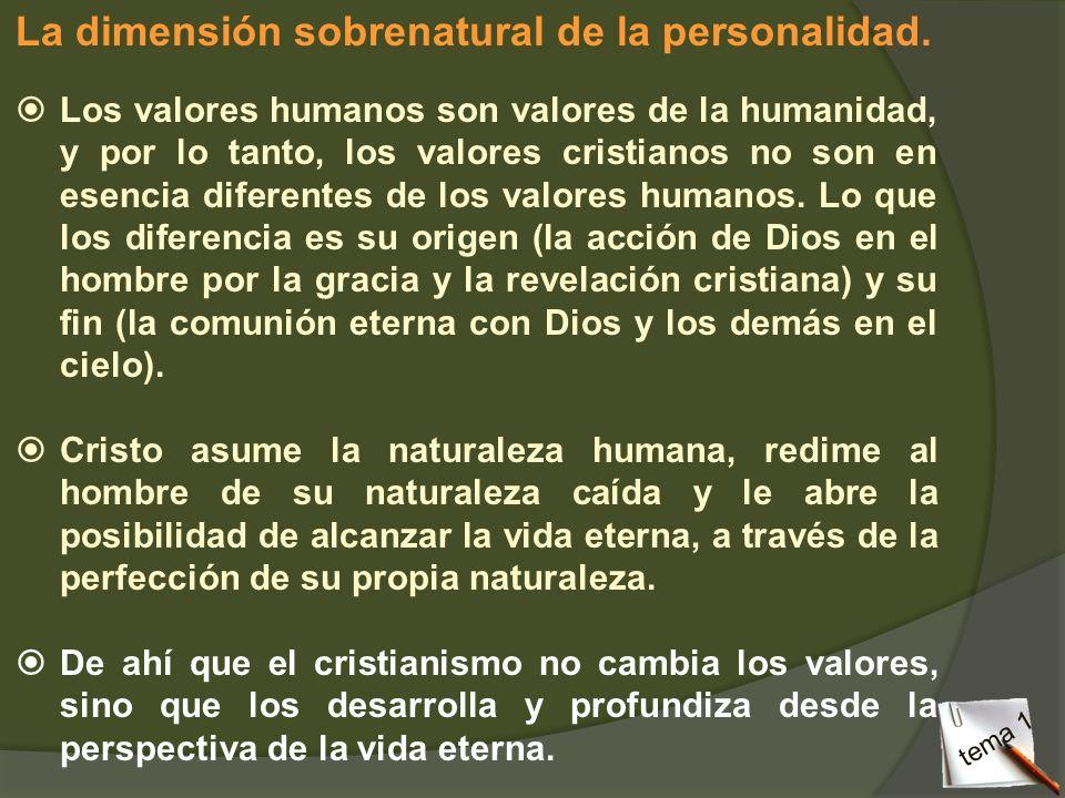La dimensión sobrenatural de la personalidad.