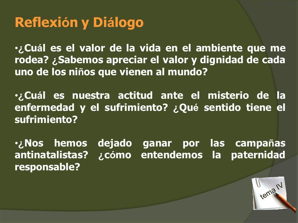 Reflexión y Diálogo