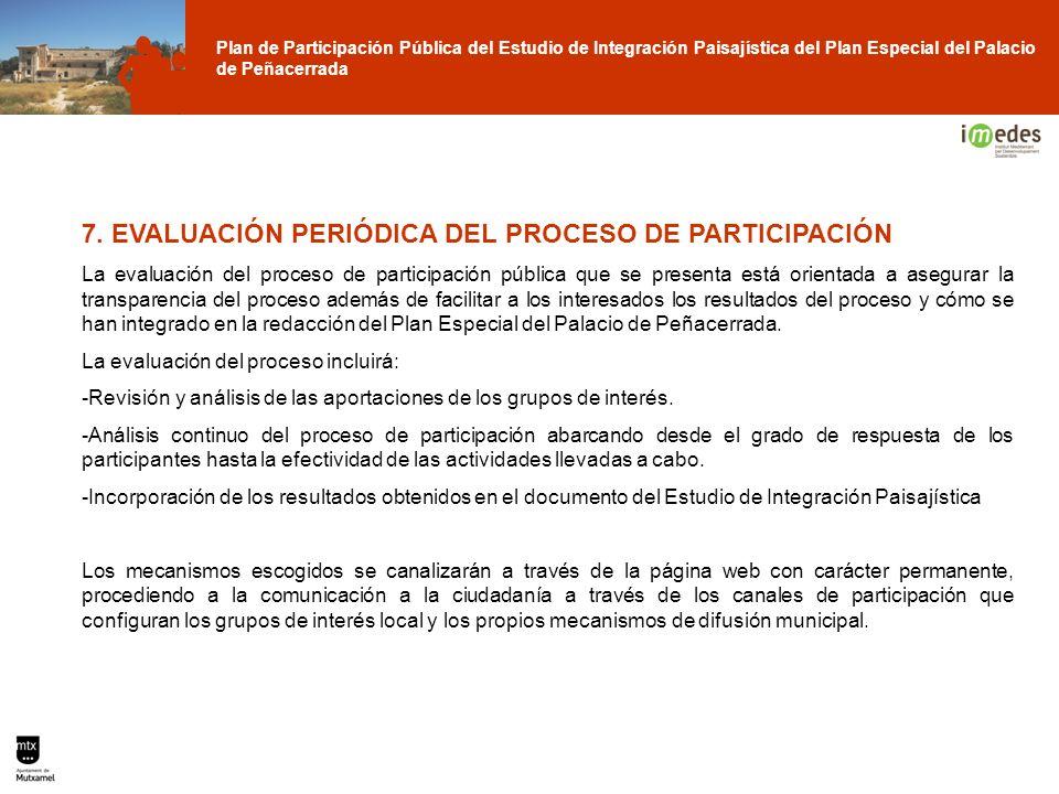 7. EVALUACIÓN PERIÓDICA DEL PROCESO DE PARTICIPACIÓN