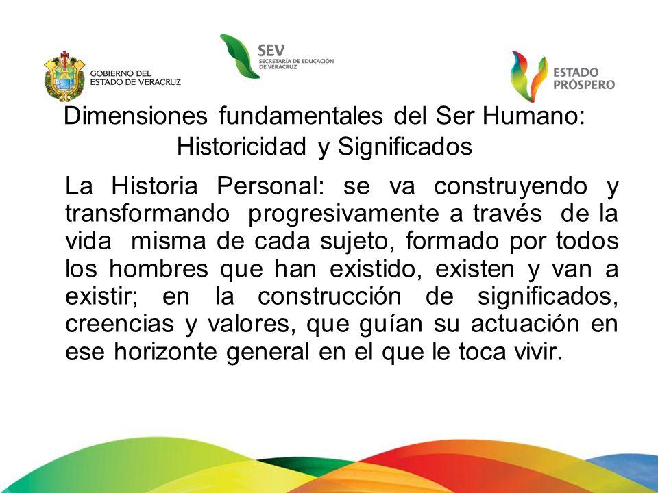 Dimensiones fundamentales del Ser Humano: Historicidad y Significados