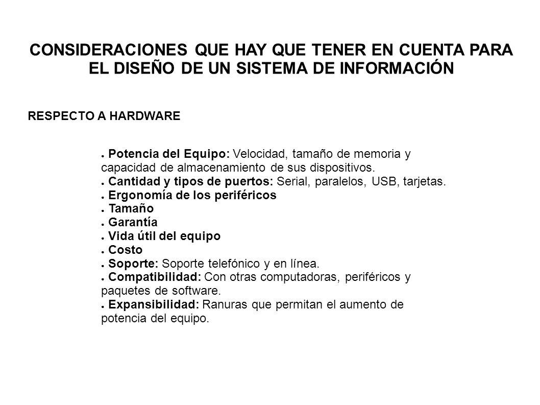 CONSIDERACIONES QUE HAY QUE TENER EN CUENTA PARA