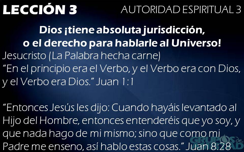 LECCIÓN 3 AUTORIDAD ESPIRITUAL 3