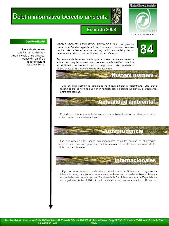 Boletín informativo Derecho ambiental