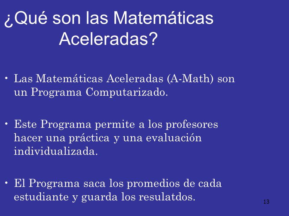 ¿Qué son las Matemáticas Aceleradas