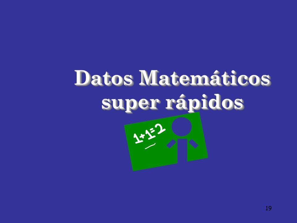 Datos Matemáticos super rápidos